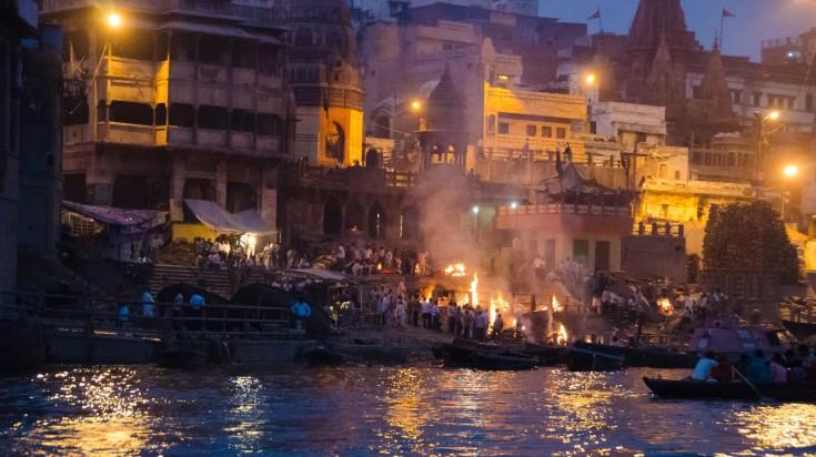 Cremation ghat in Varanasi
