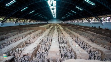 The Terracotta army is one of the most famous tourist attractions in China