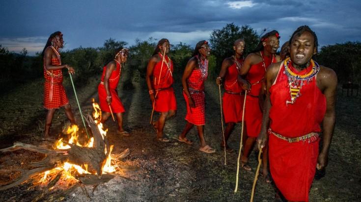Maasi tribesmen in Serengeti National Park