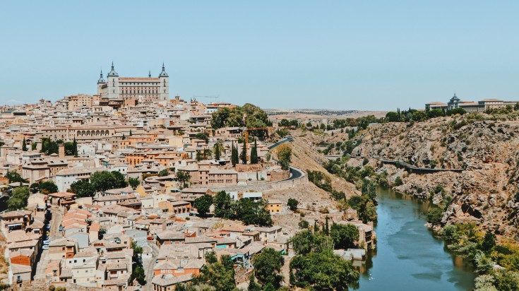 Toledo is an ancient city set on a hill in the Central Spain.