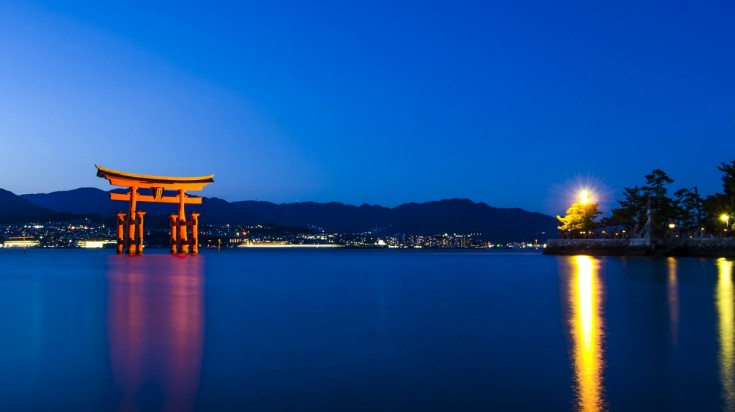 Located in Itsukushima, the Miyajima shrine is a popular shrine in Japan.