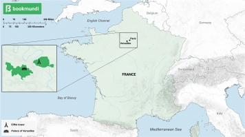 Map of touristy places in France
