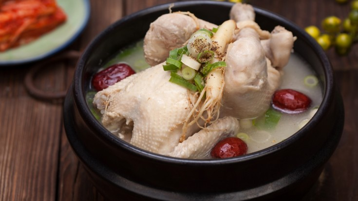 Samgyetang is a traditional Korean food