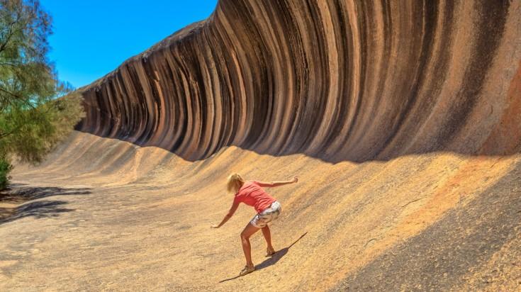 trip to australia wave rock