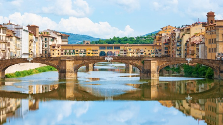 Florence is a city renowned for its Renaissance architecture, incredible art galleries and romantic side streets painted pastel colors.
