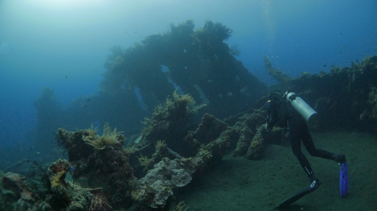 The Liberty Shipwreck is a unique spot to go diving in Bali