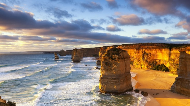 The Twelve Apostles in Australia is the main highlight of Great Ocean Road