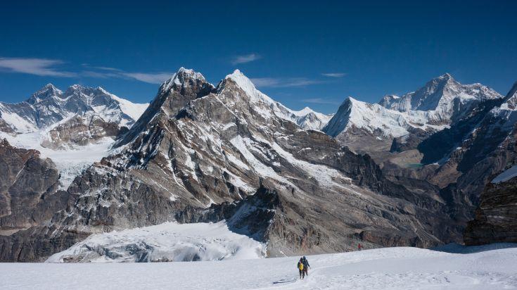Manaslu trekking area in Nepal