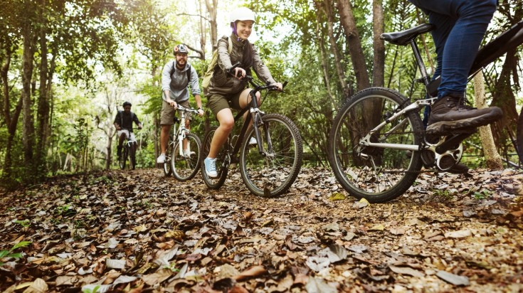 Mountain biking through the lush jungles of Costa Rica