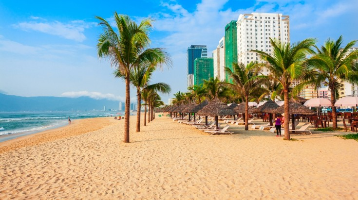 Visit My Khe beach in Vietnam on a two week vietnam itinerary