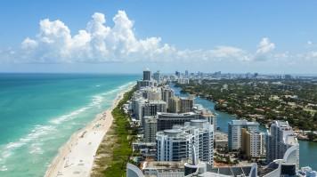 Miami beach in USA