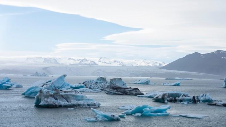 Jokulsarlon glacial lagoon a beautiful escape in Iceland.