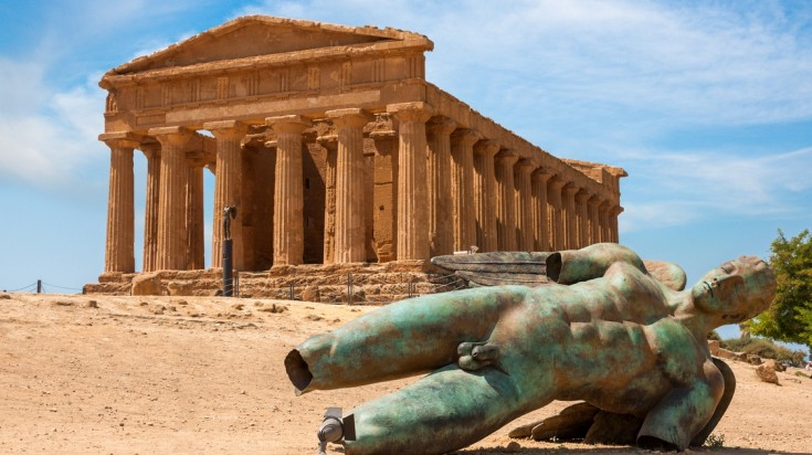 The Valley of temples is an outstanding archaeological site in Sicily.