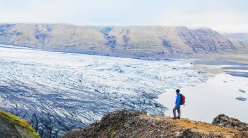 Vatnajokull National Park in Iceland is a good place for a day trip