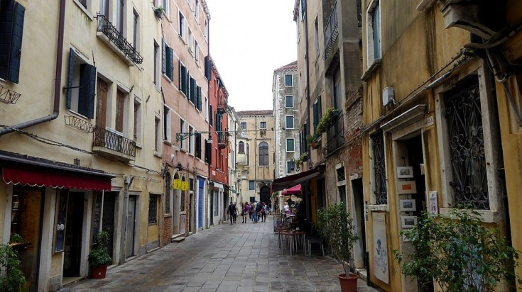 The Venetian Ghetto was an area where the Jews were to forced to live.
