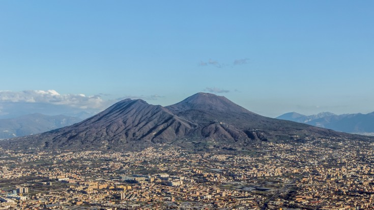 Vesuvius is a famous tourist attraction when in Naples.