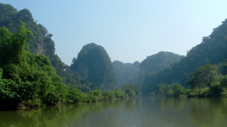 Ba Be lake in Vietnam