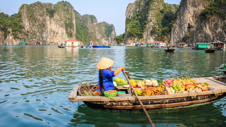 Take a Ha Long Bay cruise in Vietnam.