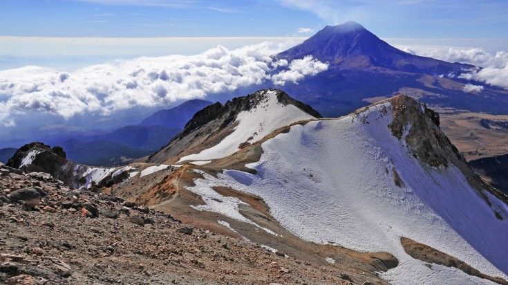 Iztaccihuatl is the third highest mountain in Mexico
