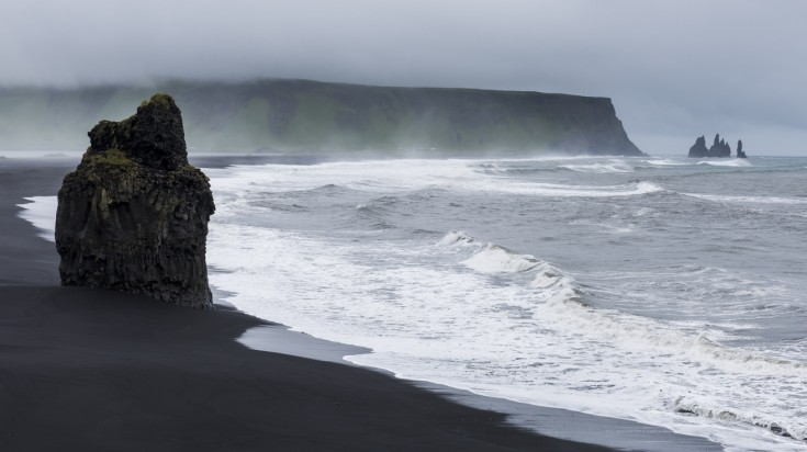 From Oraefajokull, you can see stunning views of the Vik beach