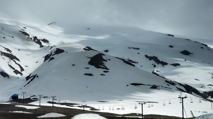 Skiing in Villarrica Volcano