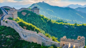 The Great Wall of China looking like an epitome of a paradise