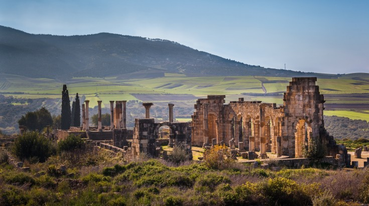 Volubilis is considered as Morocco's best preserved Roman ruins.