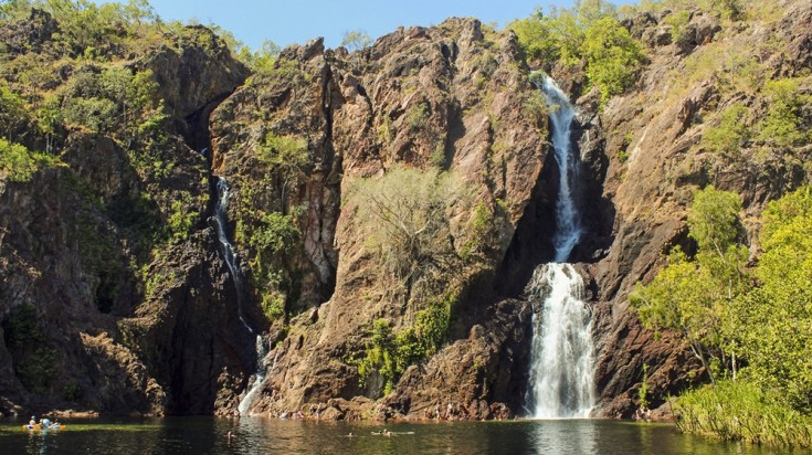 Wangi Falls is one of the many waterfalls in the park.