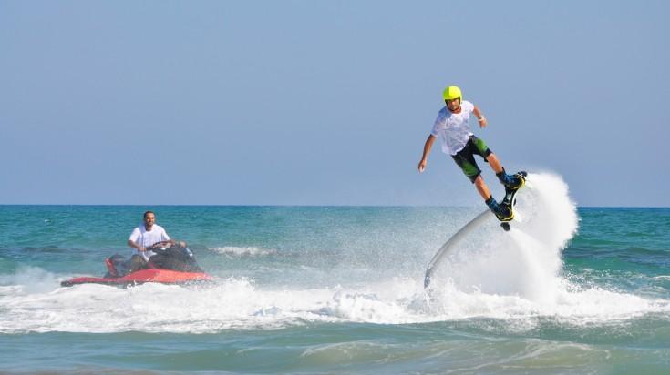 Flyboarding water sport in Dubai