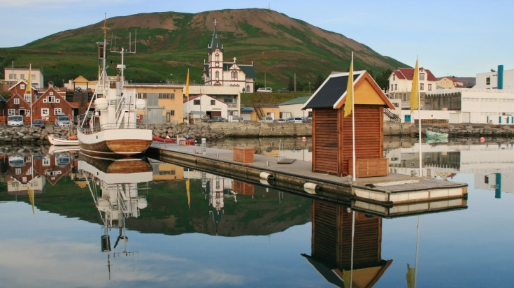 Husavik is another popular spot for whale watching in Iceland