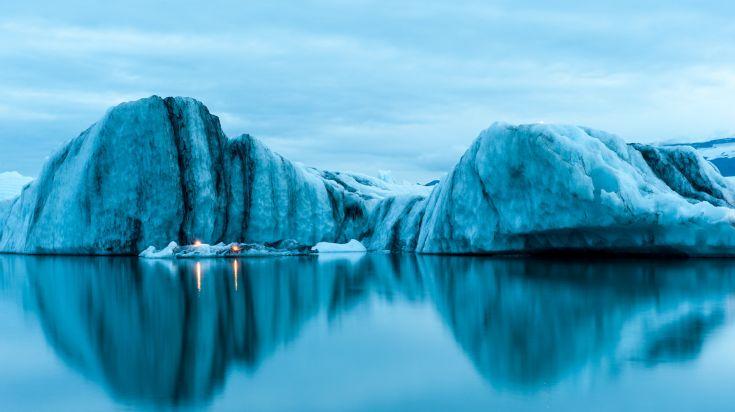 Stunning view of Jokulsarlon Glacier Lagoon