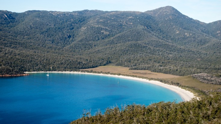 Wineglass bay is one of the best beaches