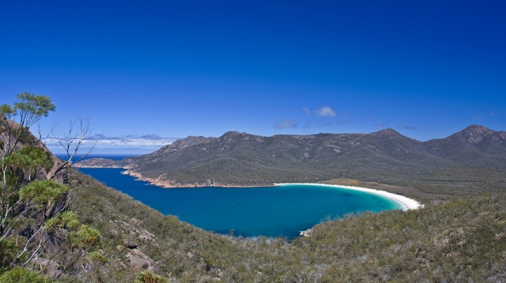 Wineglass Bay is a hallmark attraction in Tasmania.