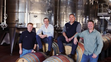 Winemaking team at Spier Wine Farm