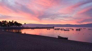 Sunset at Lake Chapala in Mexico