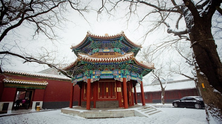 Lama temple in its winter attire