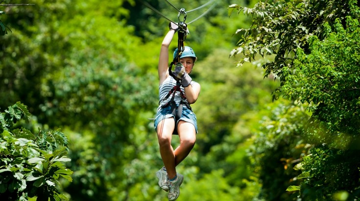 Monteverde Cloud Forest provides excellent adventures like ziplining.