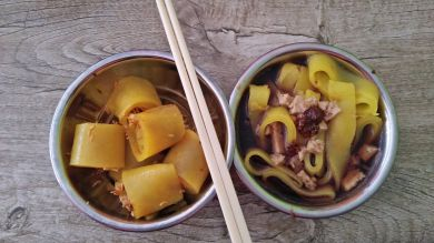 Laphing is a typical Nepali dish