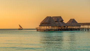 Stunning view of a beach resort in the island of Zanzibar
