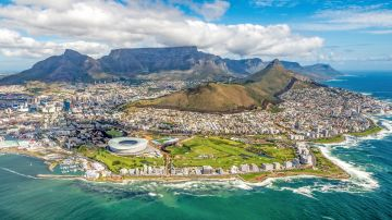 Cape Town, a coastal city in South Africa