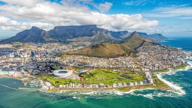 Cape Town, a singularly beautiful city crowned by the magnificent Table Mountain National Park.