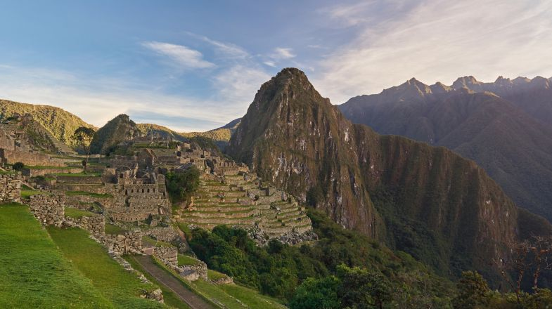 Machu Picchu, an ancient Inca city is a popular destination