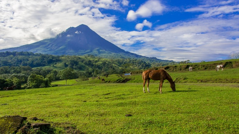 There are several trails to hike over Arenal Volcano National Park.