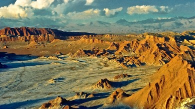 Sandwiched between the Andes and the Chilean coastal range, the Atacama Desert receives little to no rainfall and is one of the driest places in the world.