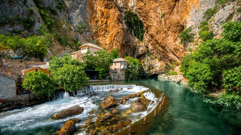 Blagaj, a village in the southern part of Bosnia and Herzegovina