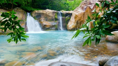 Rincon de la Vieja National Park is home to several volcanoes and many waterfalls and lakes.