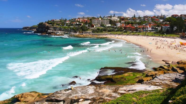 Bondi Beach in Sydney, New South Wales, Australia