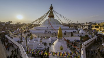 The Boudhanath Stupa is the largest spherical stupa in the outskirts of Kathmandu and a must include in all Nepal itineraries.