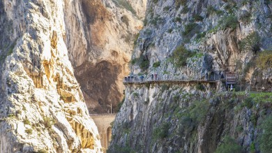 El Caminito del Rey trek, also known as the hike with the world's most dangerous walkway, is situated in the Andalusian province of Málaga, Spain.