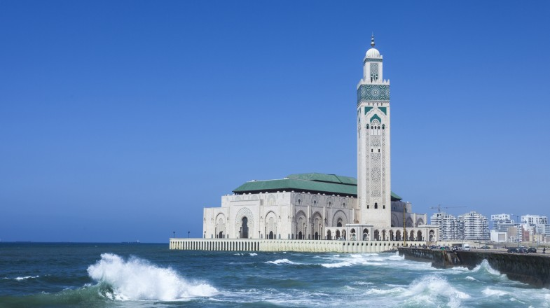 Located on the Atlantic coast of Morocco, Casablanca is a big city and a must-include on any Morocco itinerary
